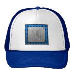 Brushed Metal-look Harp Mesh Hats