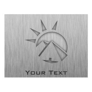 Brushed metal-look Hieroglyphics Postcard