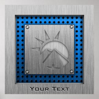 Brushed metal-look Hieroglyphics Poster