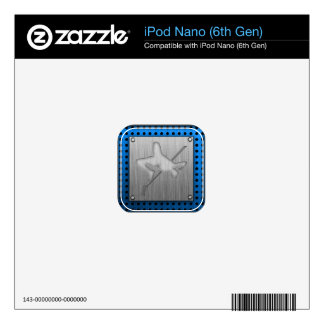 Brushed Metal-look High Jump Decal For The iPod Nano