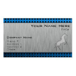 Brushed metal look Horse Business Cards