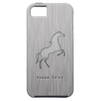 Brushed metal look Horse iPhone 5 Case