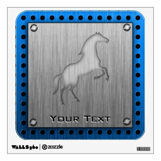 Brushed metal look Horse Wall Decal