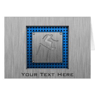 Brushed Metal-look Hurdler Card
