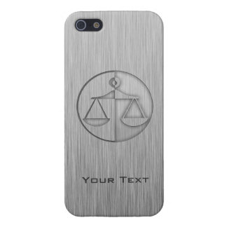 Brushed Metal-look Justice Scales Cover For iPhone SE/5/5s