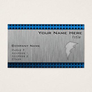 Brushed Metal-look Lightning Bolt Business Card