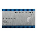 Brushed Metal-look Lightning Bolt Business Card Templates