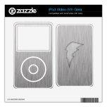 Brushed Metal-look Lightning Bolt Skins For iPod Video 5G