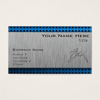 Brushed Metal-look Mountain Climbing Business Card