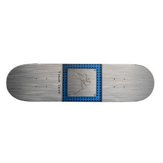 Brushed Metal-look Mountain Climbing Skate Board Decks