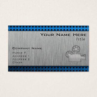 Brushed Metal-look Movie Camera Business Card