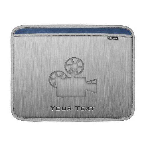 Brushed Metal-look Movie Camera Sleeve For MacBook Air