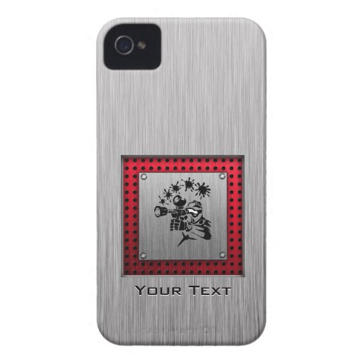 Brushed metal look Paintball iPhone 4 Cases