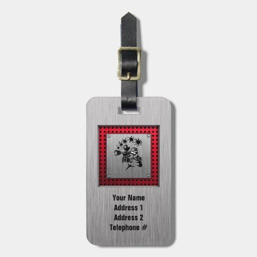 Brushed metal look Paintball Tags For Luggage