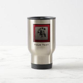 Brushed metal look Paintball Travel Mug