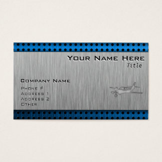 Brushed Metal-look Plane Business Card