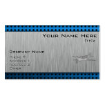Brushed Metal-look Plane Business Cards