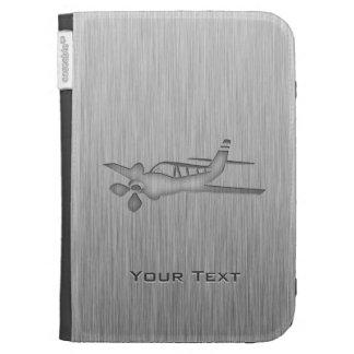 Brushed Metal-look Plane Kindle Folio Case
