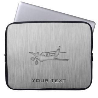 Brushed Metal-look Plane Computer Sleeves
