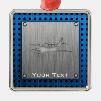 Brushed Metal-look Plane Metal Ornament