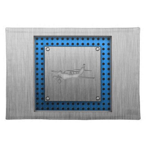 Brushed Metal-look Plane Place Mat