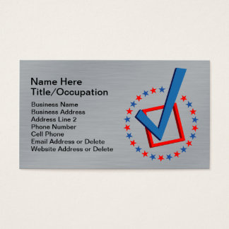 Brushed Metal Look Professional Vote | Politicians Business Card