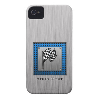 Brushed metal look Racing Flag iPhone 4 Case-Mate Cases