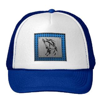 Brushed Metal look Rock Climbing Trucker Hat