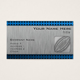 Brushed Metal-look Rugby Business Card