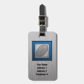 Brushed Metal-look Rugby Tag For Luggage