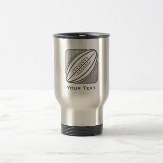 Brushed Metal-look Rugby 15 Oz Stainless Steel Travel Mug