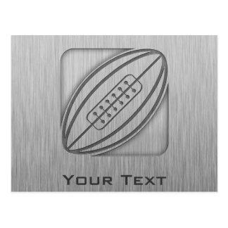 Brushed Metal-look Rugby Postcard
