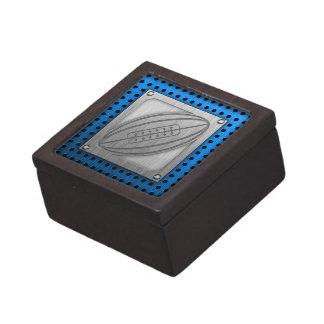 Brushed Metal-look Rugby Premium Trinket Box