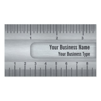 Brushed Metal Look Ruler or Rule Technical Business Card
