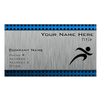 Brushed Metal look Running Double-Sided Standard Business Cards (Pack Of 100)