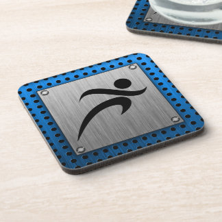Brushed Metal look Running Drink Coaster