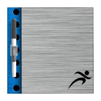 Brushed Metal look Running Dry Erase Board