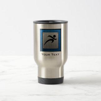 Brushed Metal look Running 15 Oz Stainless Steel Travel Mug