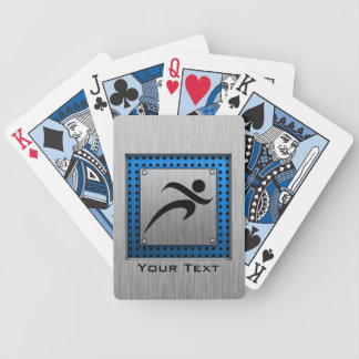 Brushed Metal look Running Bicycle Poker Cards