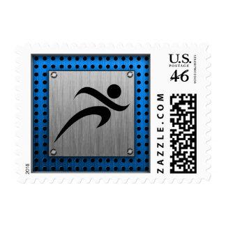 Brushed Metal look Running Stamp