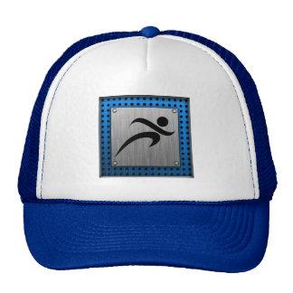 Brushed Metal look Running Trucker Hat