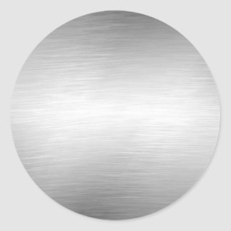 Brushed Metal Look Silver Stickers