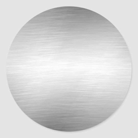Brushed Metal Look Silver Stickers Zazzle Com