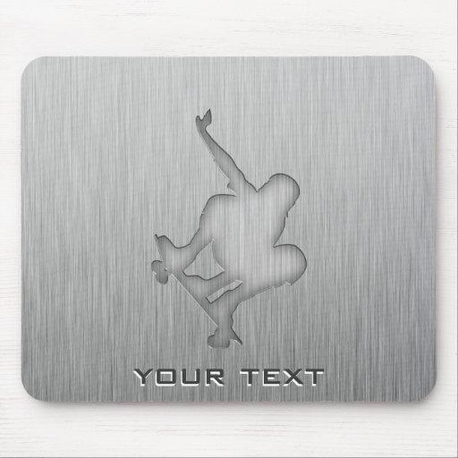 Brushed Metal-look Skateboarding Mouse Pad