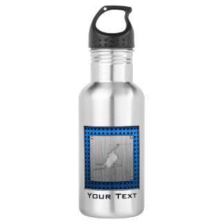 Brushed Metal-look Snow Skiing Stainless Steel Water Bottle