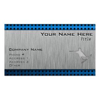 Brushed Metal-look Snowboarding Business Card
