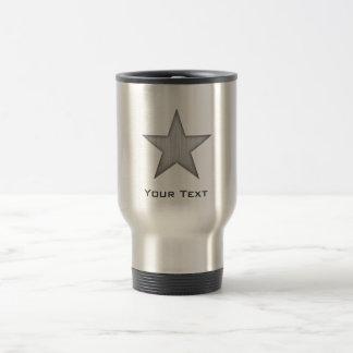 Brushed Metal-look Star 15 Oz Stainless Steel Travel Mug