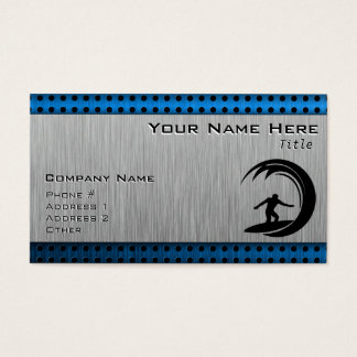 Brushed Metal look Surfing Business Card