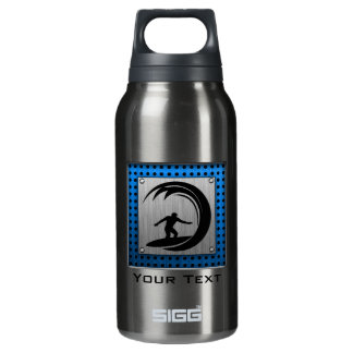 Brushed Metal look Surfing Insulated Water Bottle