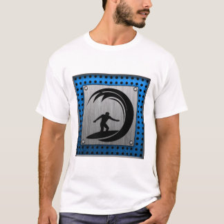 Brushed Metal look Surfing T-Shirt
